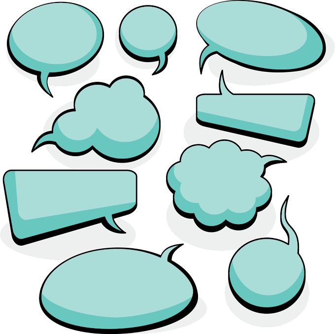 Green message clouds illustration, Dialogue Speech balloon Euclidean, Simple blank dialog box material, blue, white, cloud png free png download