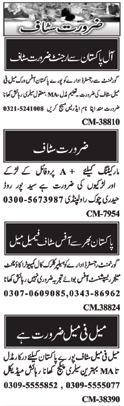 Daily Nawaiwaqt Newspaper Sunday Classified Jobs 7 Feb 2021 in Islamabad
