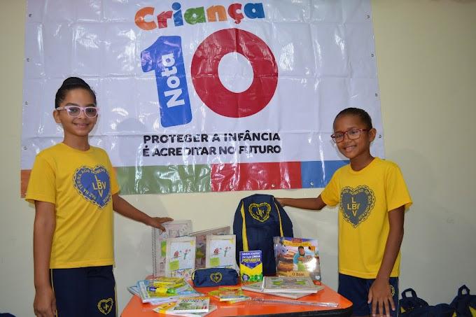 LBV: Kits de material pedagógico são entregues pela LBV a crianças da Paraíba.