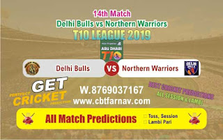 T10 League 2019 NOR vs DEB 14th T10 League 2019 Match Prediction Today Reports