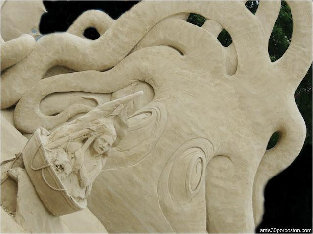 Esculturas de Arena de Revere Beach: The Monstrous Gorge de Leonardo Ugolini