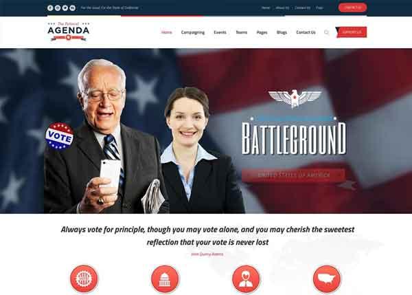 Agenda Best Political WordPress Themes 2020