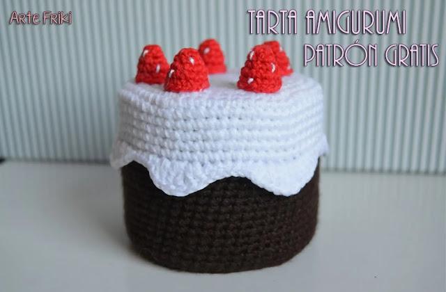 Cómo Tejer un Tarta Amigurumi a Crochet para Decorar