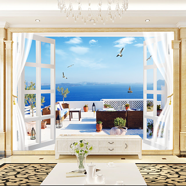 Picture Wallpaper for Walls Nature Wall Mural Window View