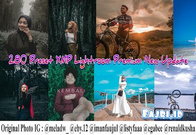 280 Preset XMP Lightroom Premium New Update