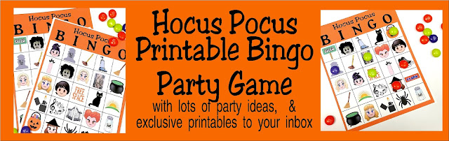 Hocus Pocus printable bingo game