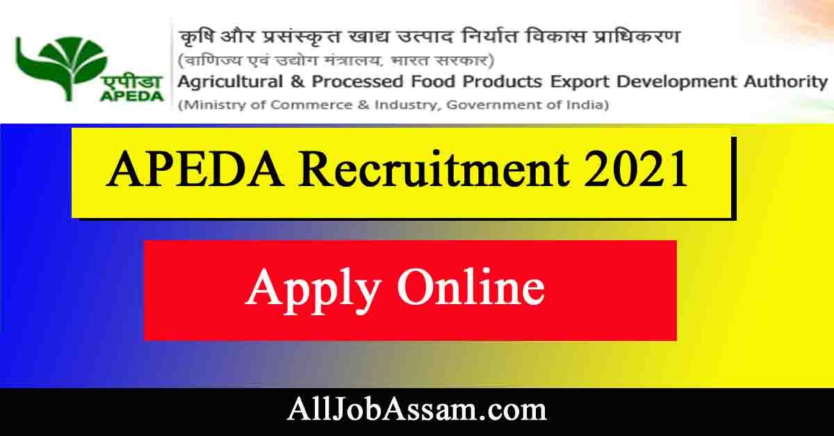 APEDA  Recruitment 2021