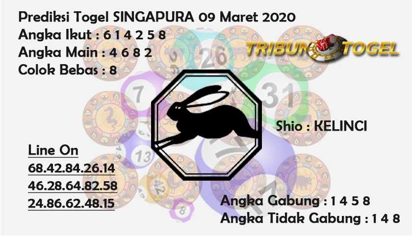 Prediksi Togel Bocoran Singapura Senin 09 Maret 2020 - Prediksi Tribun Togel