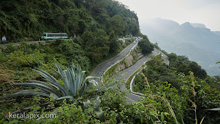 Hairpins at Loam's View Point, Anamalai Hills on Valparai Aliyar road