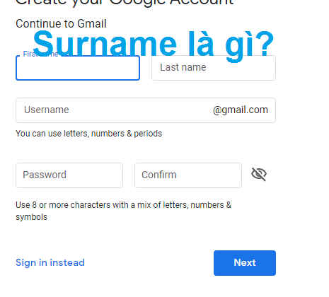 Surname là gì? Hướng dẫn sử dụng Surname đúng cách