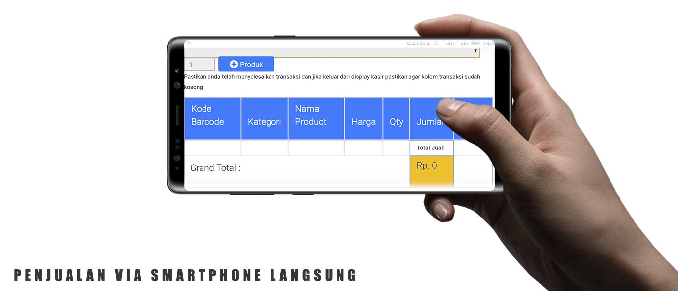 cara menjadikan handphone smartphone android iphone menjadi mesin kasir online