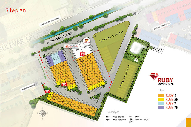 Siteplan Ruko Ruby Commercial