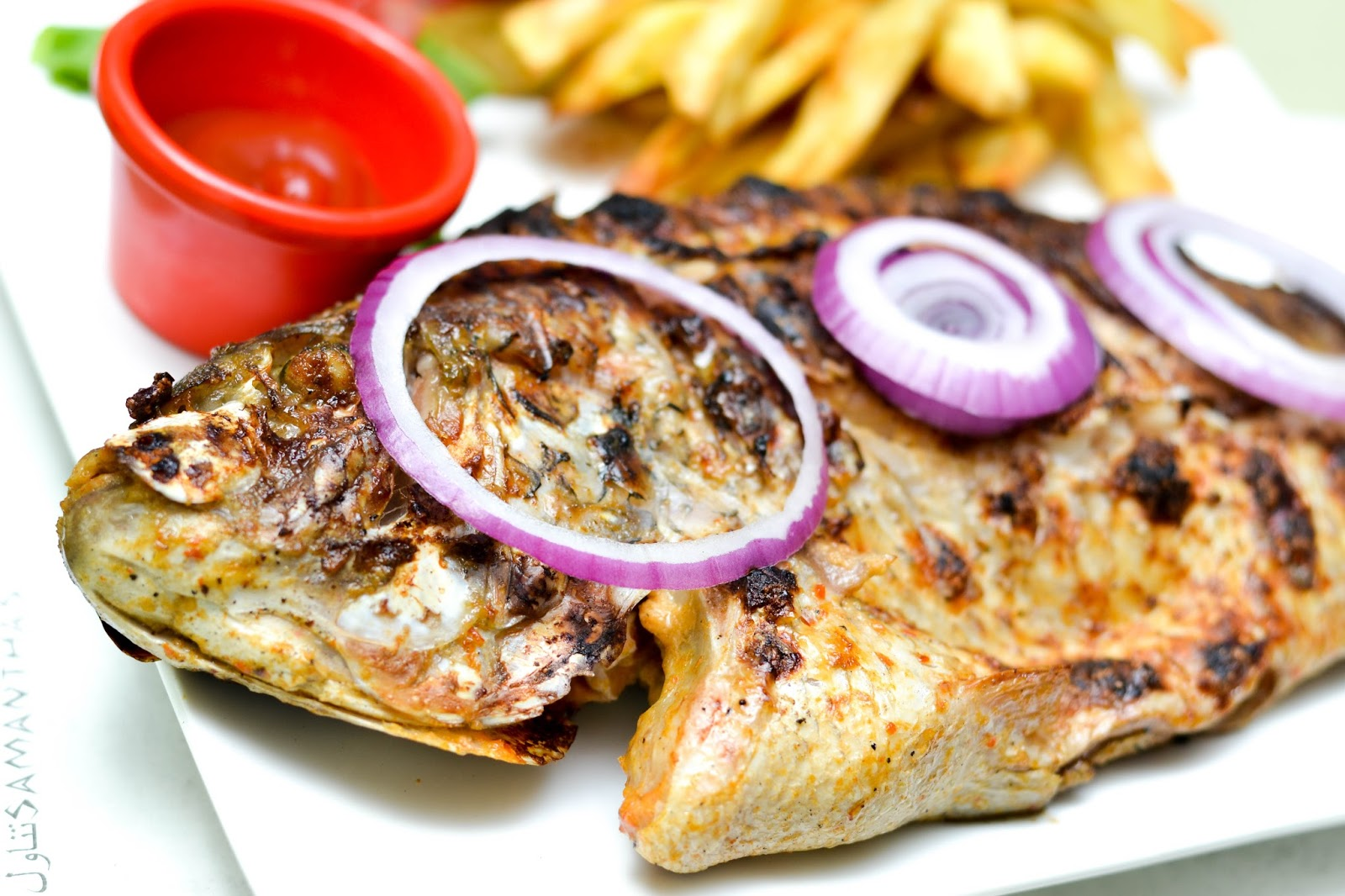 Grilled Tilapia fish in Nigeria