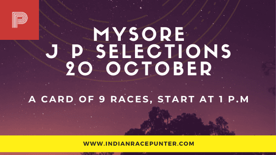 Mysore Jackpot Selections 20 October