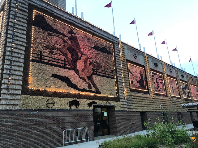 Intricate murals adorning the Corn Palace fabricated from South Dakota crops.