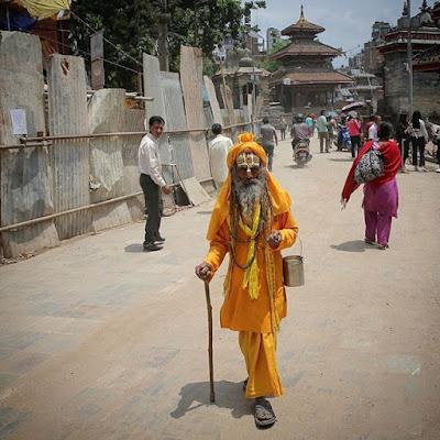 Santón en Katmandú