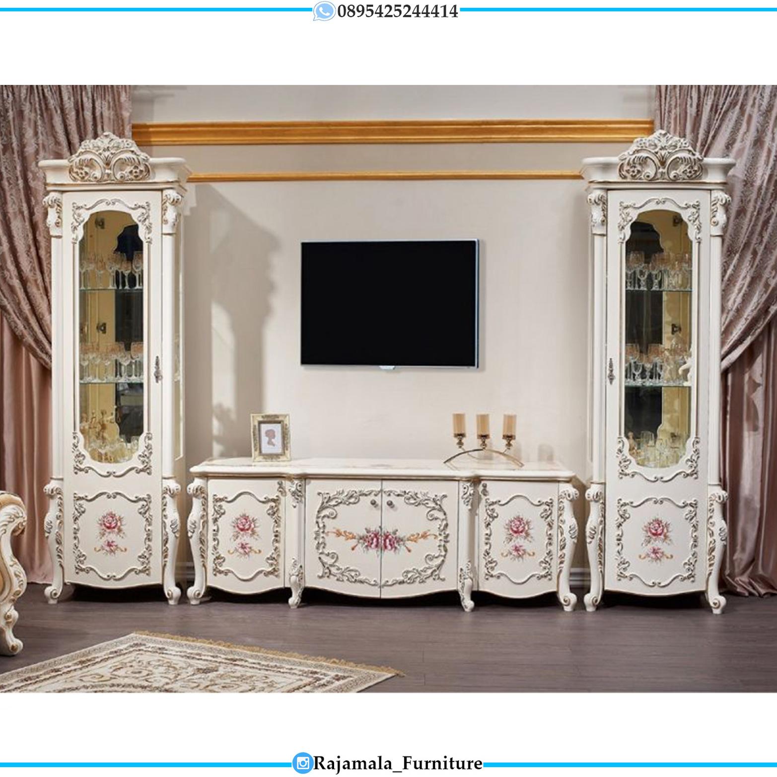 Bufet TV Mewah Italiansky Luxury Carving Jepara RM-0102
