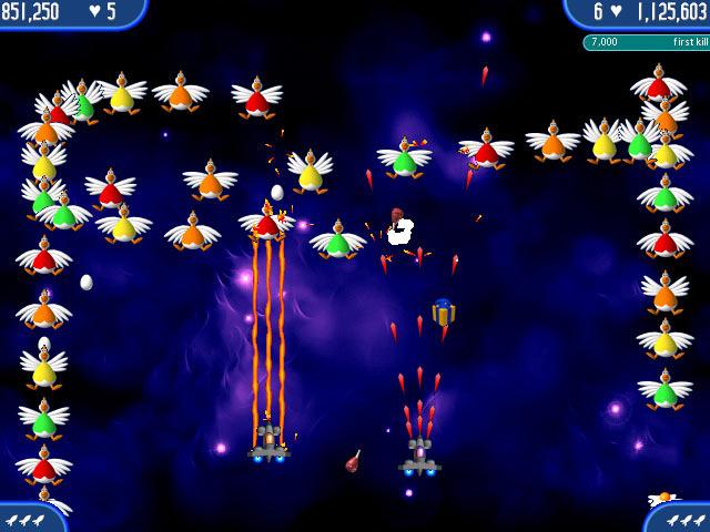 تحميل لعبة chicken invaders 2