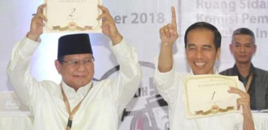 Survey Turun, Pasangan, Jokowi - Amin Masih Unggul