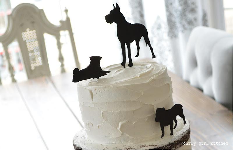 Cake, Wedding Cake, Dog Cake, Dog Cake Topper, Dog Silhouette, Naked Cake