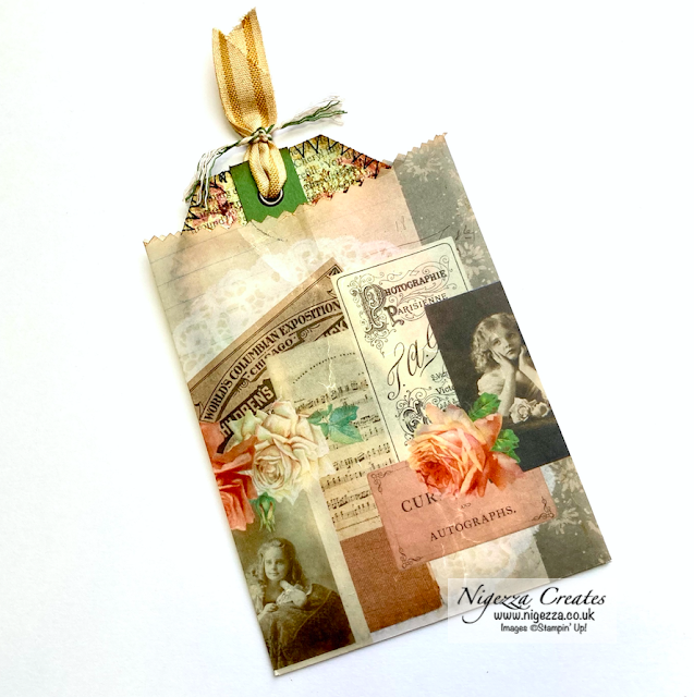 Faux Vellum Bag Pockets With Vintage Days