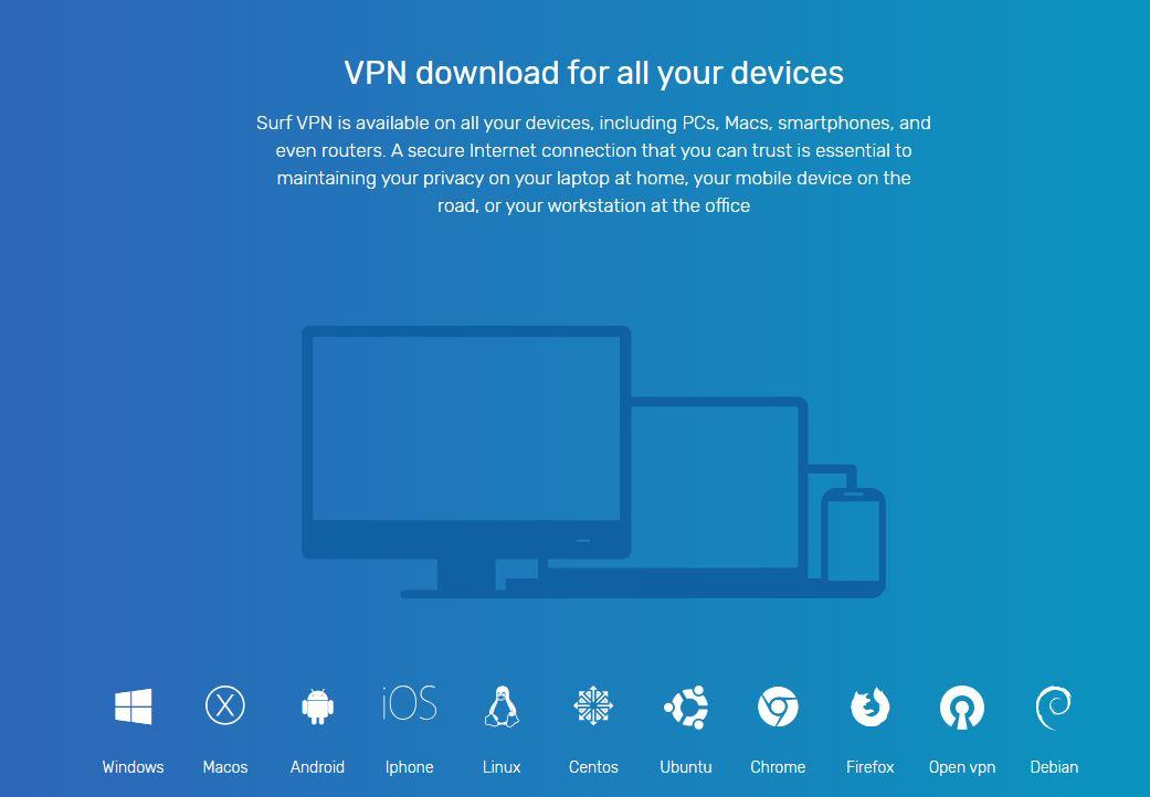 برنامج vpn.surf