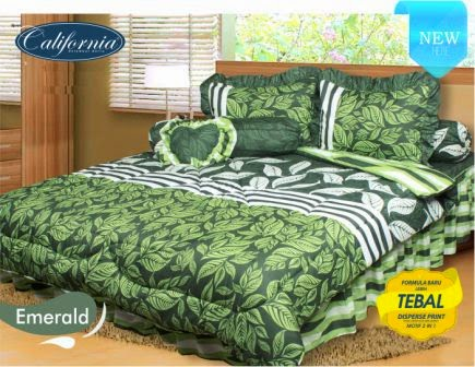 Sprei california motif Emerald