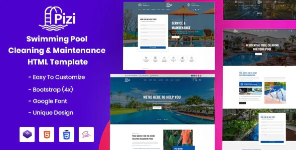 Best Swimming Pool Services Website Template