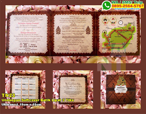 Undangan Softcover Batik Lipat 3 Tika & Wahyu