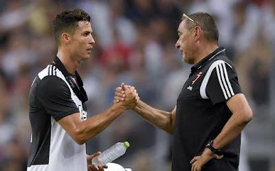 Sarri e Ronaldo