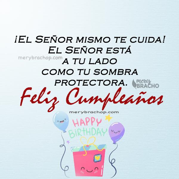 imagen de cumpleaños con versiculo biblico salmo proteccion