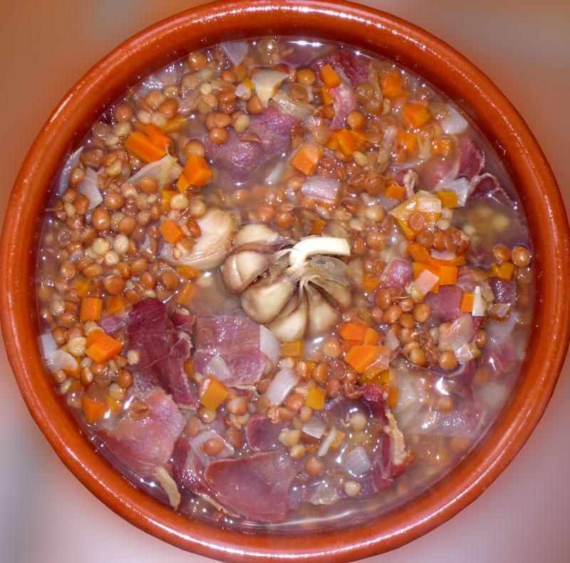 Hoy cocino yo: Lentejas con jamón de Teruel