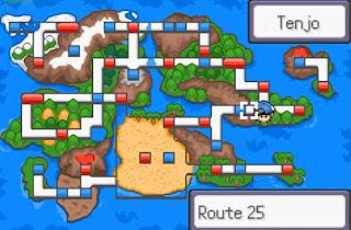 Pokemon Darkfire para GBA Mapa Region Tenjo al este de Hoenn