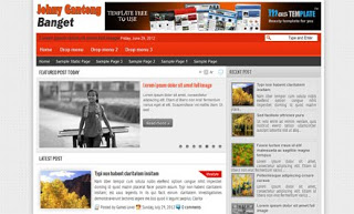 Johny Ganteng Banget Blogger Template