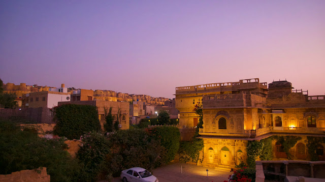 Jaisalmer golden fort palace night view of street, www.azexplained.com