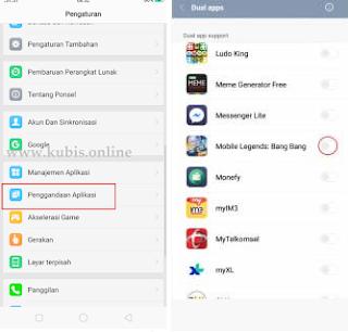Cara Menggandakan Akun Mobile Legends Menggunakan Penggandaan Aplikasi