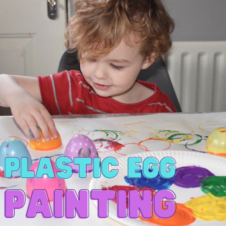 Plastic Easter egg painting for toddlers