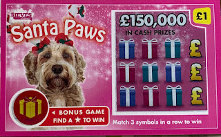 Rieves Lotteries Santa Paws 2019 Scratchcard