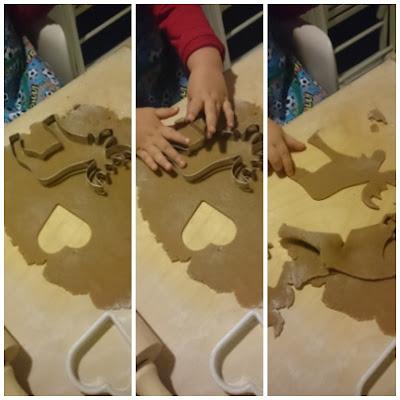 dziecko robi pierniczki