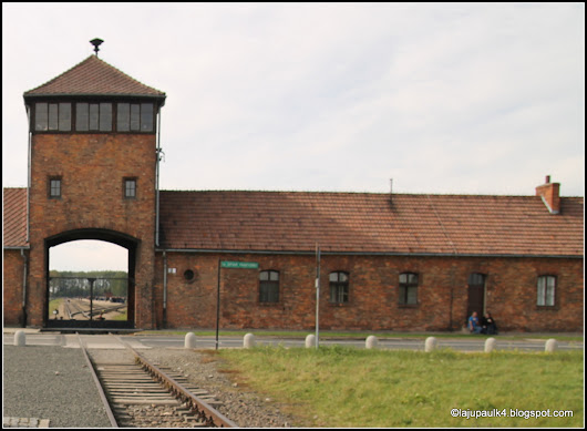 The Gate of Death-main entrance to Auschwitz II (Birkenau)