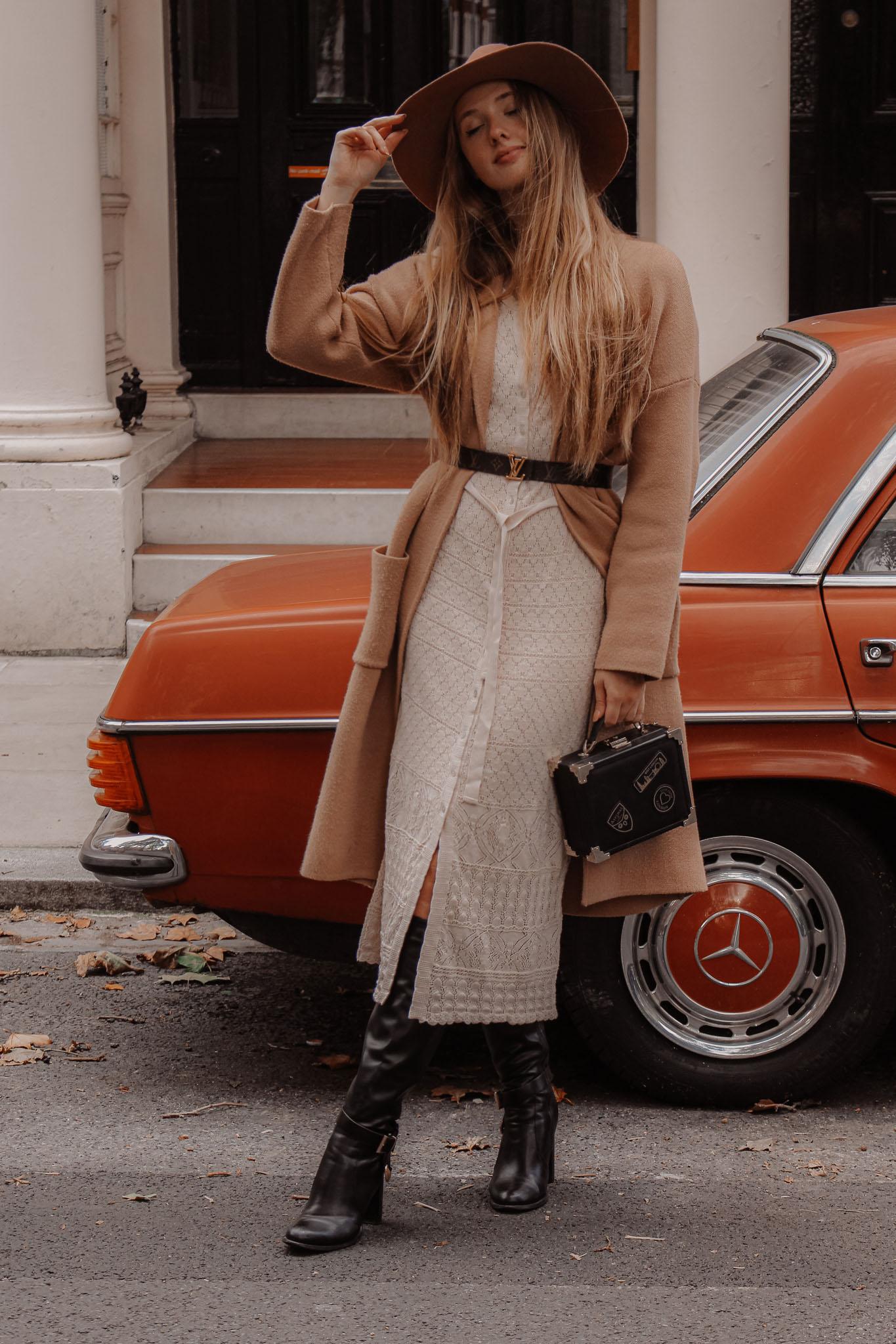 Vintage Mercedes Orange Car