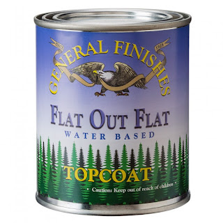 water based top coat, flat out flat, general finishes top coats, the best top coat, polyacrylic