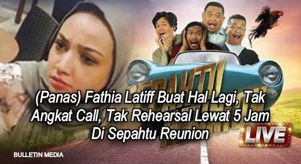 (Pendedahan Panas) Fathia Latiff Buat Hal Lagi, Lewat 5 Jam Di Sepahtu Reunion