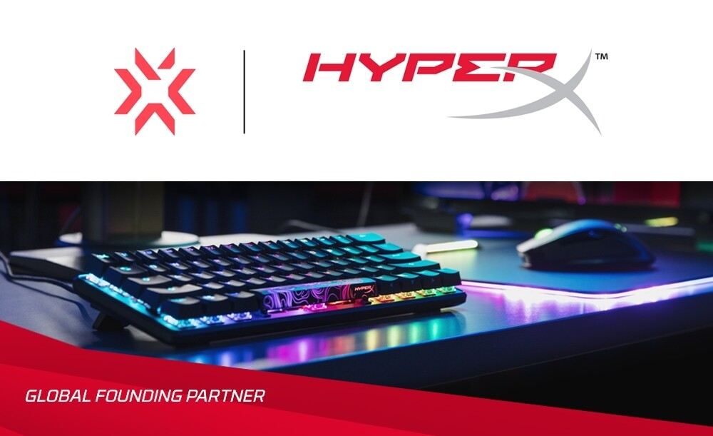 HyperX becomes a Global Founding Partner for Riot Games' VALORANT Champions Tour