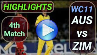 AUS vs ZIM 4th Match