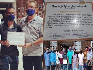Picuiense recebe título de sócio honorário de associação frei martinhesse