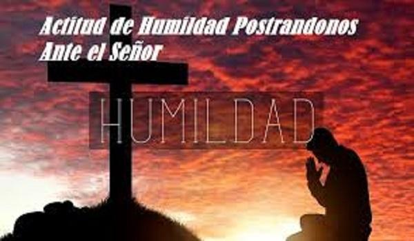 Actitud de humildad ante el Señor
