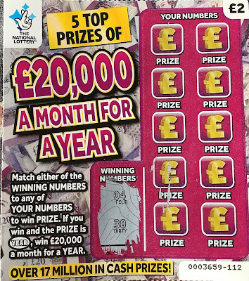 £20,000 A Month For A Year Scratchcard