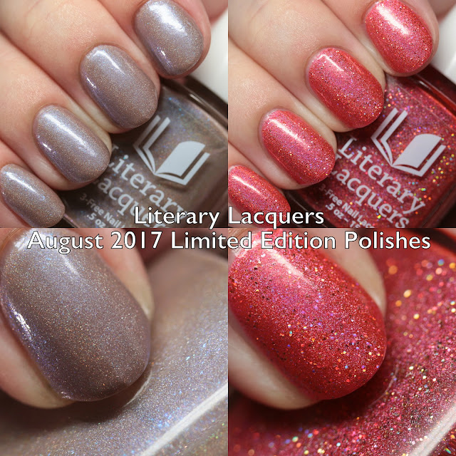 Literary Lacquers August 2017 Limited Edition Polishes