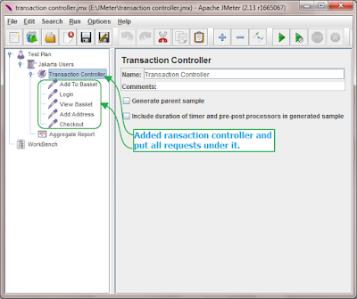jmeter Transaction Controller